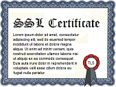 Paper SSL certificate with seal