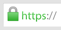 green lock and https:// from address bar