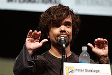 Peter Dinklage at a podium